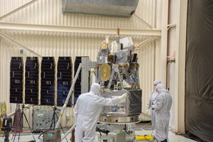 Solar array on NASA's Ionospheric Connection Explorer (ICON)