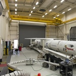 Fully-assembled Pegasus XL rocket with the ICON satellite