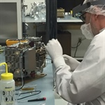 Chris Smith working on EUV flight instrument