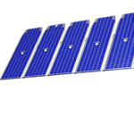 Computer generated drawing of the ICON payload, spacecraft and solar panel