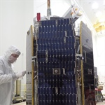 ICON solar array attached for the final time after testing deployment